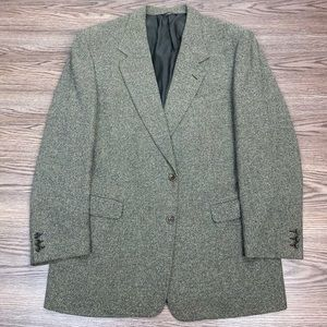 Canali Olive Green Sport Coat 44L Long